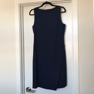 Theory navy fitted shift dress